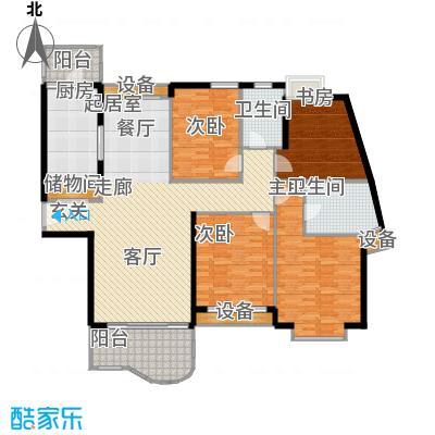 天山河畔花园162.45㎡房型: 四房; 面积段: 162.45 -165.46 平方米; 户型