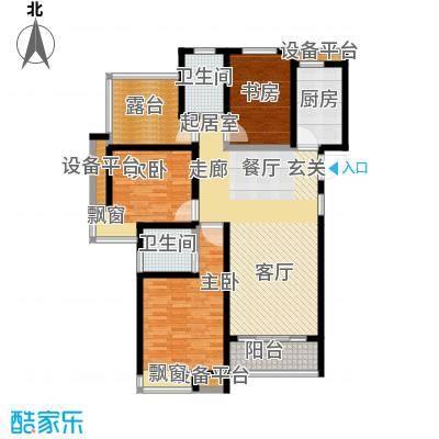 中铁诺德誉园128.00㎡D户型4室2厅2卫