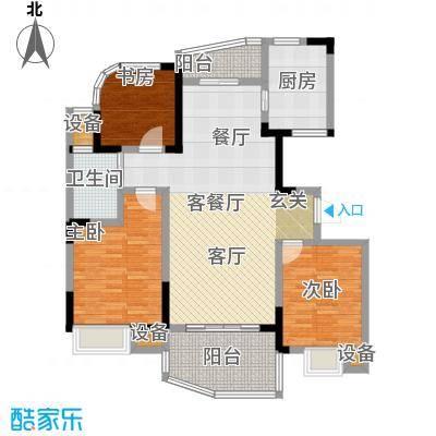 天翼御品C2户型3室1厅1卫1厨