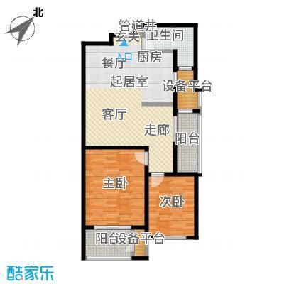 新创理想城88.21㎡新创理想城户型图A2户型(2/5张)户型10室