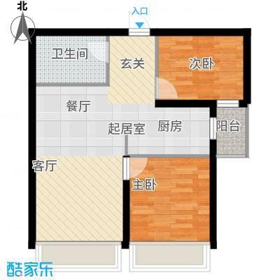 尚海华庭57.58㎡户型10室