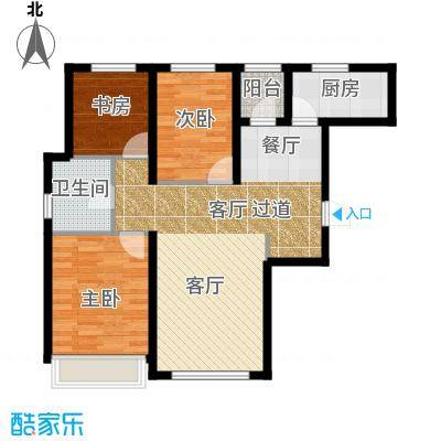 尚海华庭80.70㎡户型10室