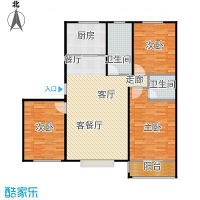 丽景盛园124.00㎡C2户型 3室2厅2卫 124.00㎡户型3室2厅2卫