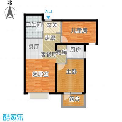 金隅・观澜时代85.00㎡G11`户型2室2厅1卫
