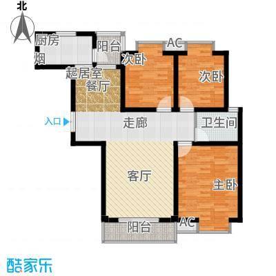 凯旋城111.06㎡凯旋城户型图三房二厅二卫-111.06-46套(2/8张)户型10室
