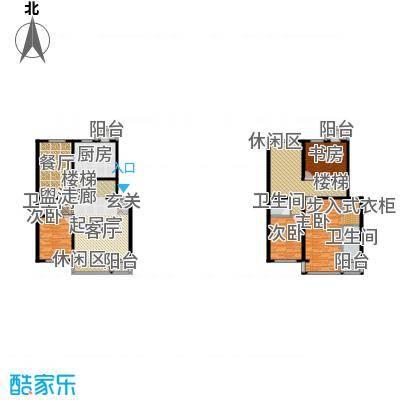 上林湾236.00㎡F1-1 户型4室3厅3卫