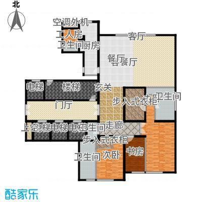 万达公馆330.00㎡2号楼二室二卫二厅户型2室2厅2卫