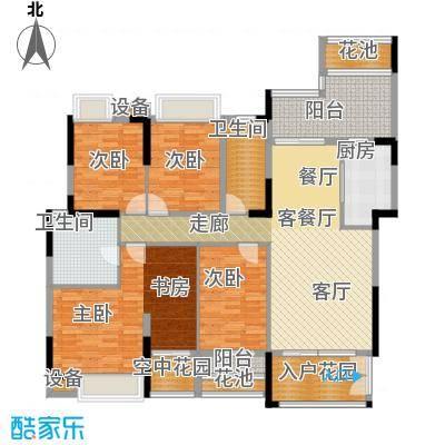 睿山B栋01单位半山逸苑户型4室1厅2卫1厨