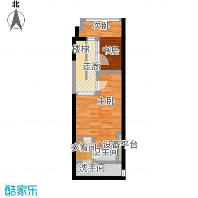漕湖之星2、5#现代二层户型2室1卫