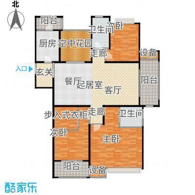 九龙仓繁华里166.00㎡26#、28#、31#户型A户型3室2厅2卫