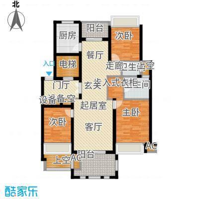 华润置地橡树湾125.00㎡LUX公寓户型3室2厅2卫QQ