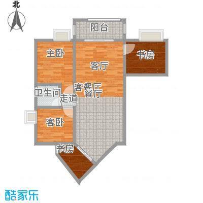 盛和新都会3栋标准层03户型4室1厅1卫