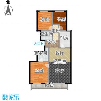 顺鑫・华玺瀚�115.00㎡S5户型3室2厅2卫
