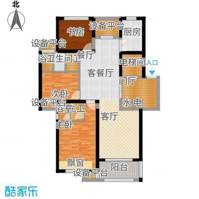 恒熙湖庭120.00㎡C户型3室2厅2卫