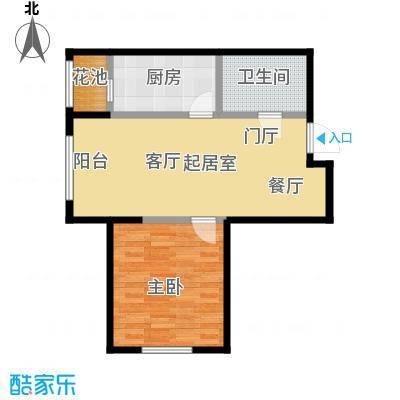 左岸阳光62.95㎡一室一厅一卫户型1室1厅1卫