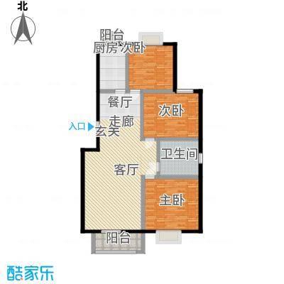 漫香林溪129.05㎡6号楼一层一单元101室户型3室2厅1卫