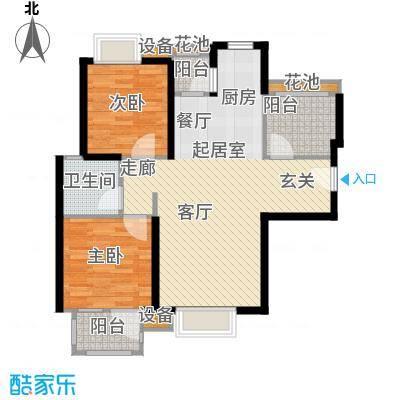 首开悦澜湾小高层A3-2户型2室1卫
