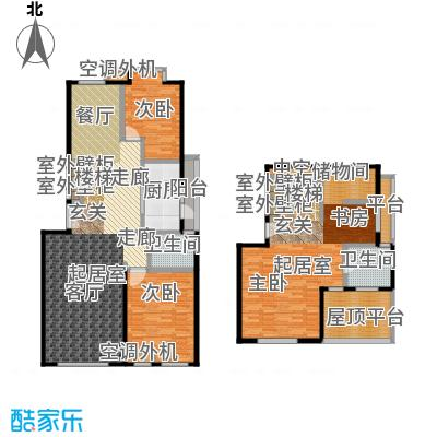玺萌公馆C反-Y1跃层户型2室2卫1厨