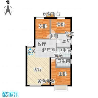 龙跃财富公馆116.00㎡E户型3室2厅2卫