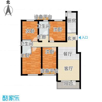 北京苏活4、5、6、7号楼H户型4室2卫1厨