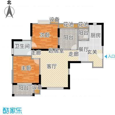首开悦澜湾高层B1户型2室1卫