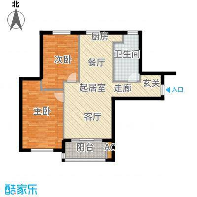 宇圣明珠86.09㎡A户型二室二厅一卫户型2室2厅1卫QQ