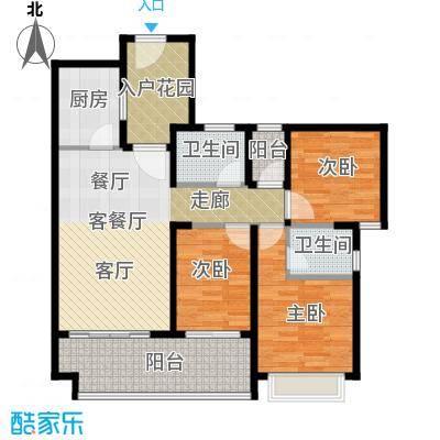 光明大第87.00㎡4栋B型3房2厅2卫户型3室2厅2卫