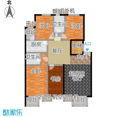 玺萌公馆C反-02户型4室2卫1厨