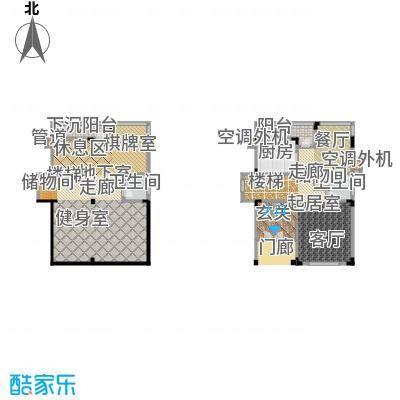 归心苑b2一层平面图户型2卫1厨