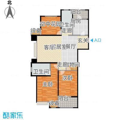 九龙仓繁华里123.00㎡26#、28#、31#C1户型 2房2厅2卫户型2室2厅2卫