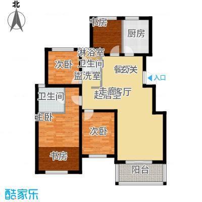 青枫国际120.00㎡青枫国际B户型3+1房户型3室2厅2卫
