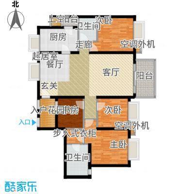 半岛城邦二期151.00㎡7栋2单元D+E 四房两厅两卫户型