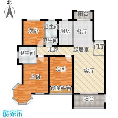 新公馆143.57㎡E-1户型3室2厅2卫