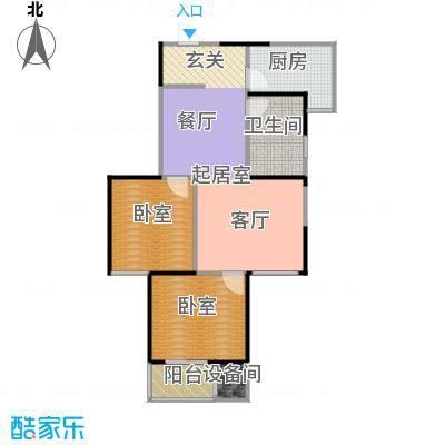 金泰怡景花园B10户型两室两厅一卫户型2室2厅1卫