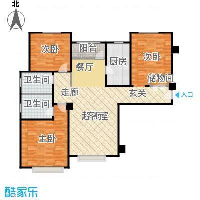 宝能城127.00㎡E-1户型3室2厅2卫