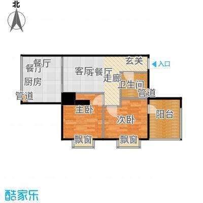 西荷丰润国际公寓86.47㎡西荷丰润国际公寓户型图A2户型两室一厅一厨一卫(16/19张)户型2室1厅1卫
