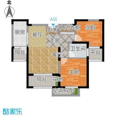 置地青湖语城B户型2室1厅1卫1厨