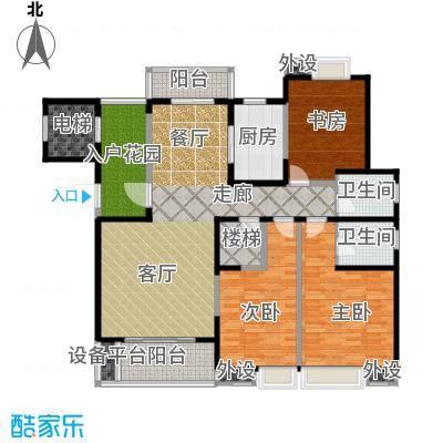 曲江唐仁里E3下层户型3室1厅2卫1厨