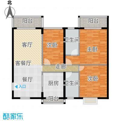 世纪新潮豪园116.71㎡标准层G户型3室1厅2卫1厨