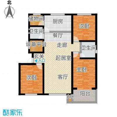 万豪长隆湾145.38㎡二期d户型3室2厅2卫