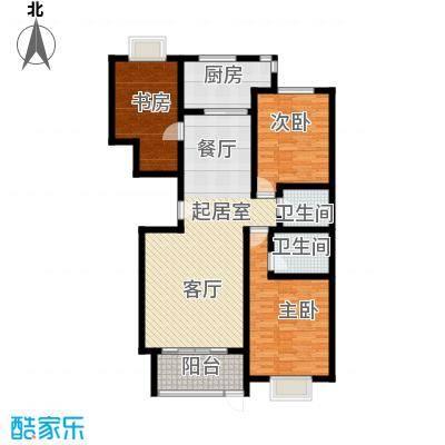巨华世纪城133.00㎡2区 F户型2室2厅2卫