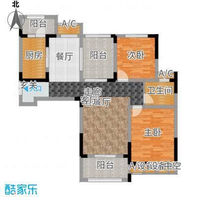 荣尚花苑104.00㎡C户型2室2厅1卫X