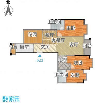 高雅湾140.21㎡高雅湾户型图园景华邸D户型(2/3张)户型10室