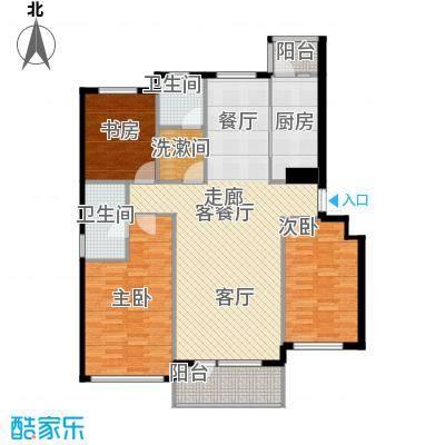 红星海世界观120.00㎡岚谷19#小高层A户型3室1厅2卫1厨