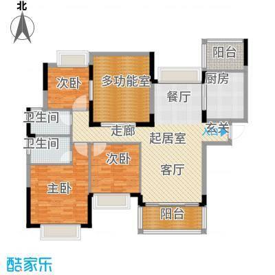 合景峰汇国际130.00㎡D户型3室2厅2卫