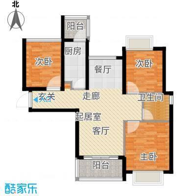 合景峰汇国际89.00㎡九期A2户型2室2厅1卫