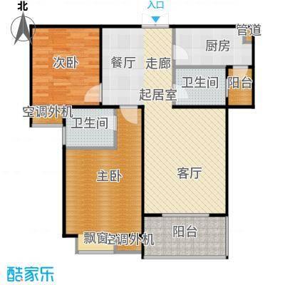 沁水新城103.00㎡沁水新城户型图E-2户型2室2厅2卫(17/60张)户型2室2厅2卫