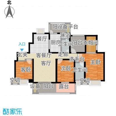 中新翠湖168.00㎡中新翠湖户型图C户型(1/1张)户型3室2厅1卫