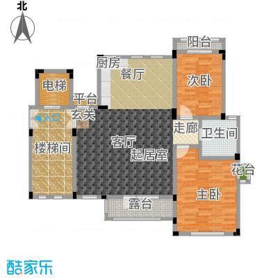 阳光地中海电梯洋房D 地上四层2室2厅1卫107.07㎡户型