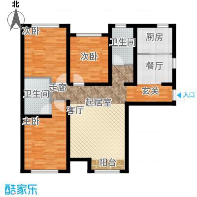 京西・金泰丽湾132.00㎡3C反户型3室2厅2卫
